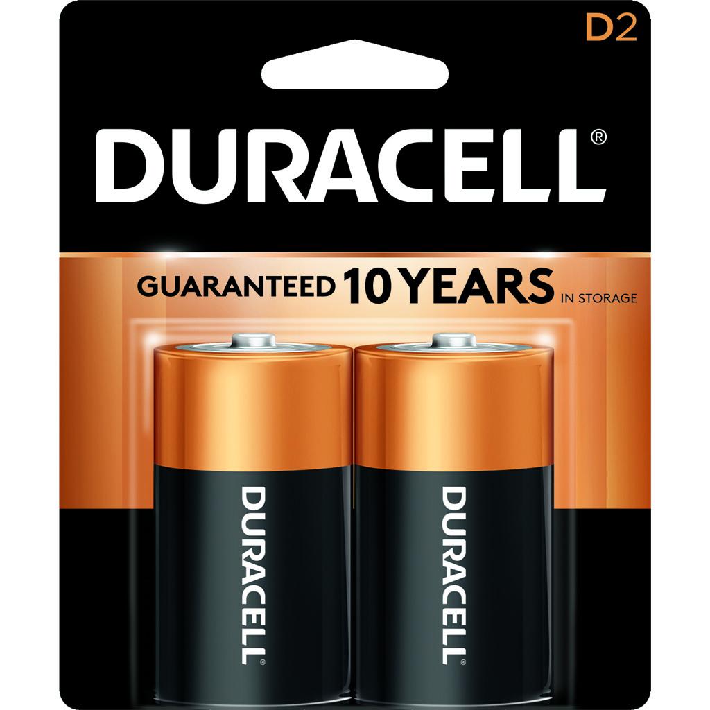 Duracell Coppertop Batteries  <br>  D 2 pk.