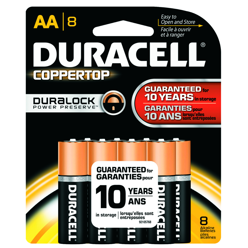 Duracell Coppertop Batteries  <br>  AA 8 pk.