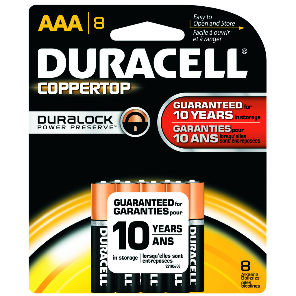 Duracell Coppertop Batteries  <br>  AAA 8 pk.
