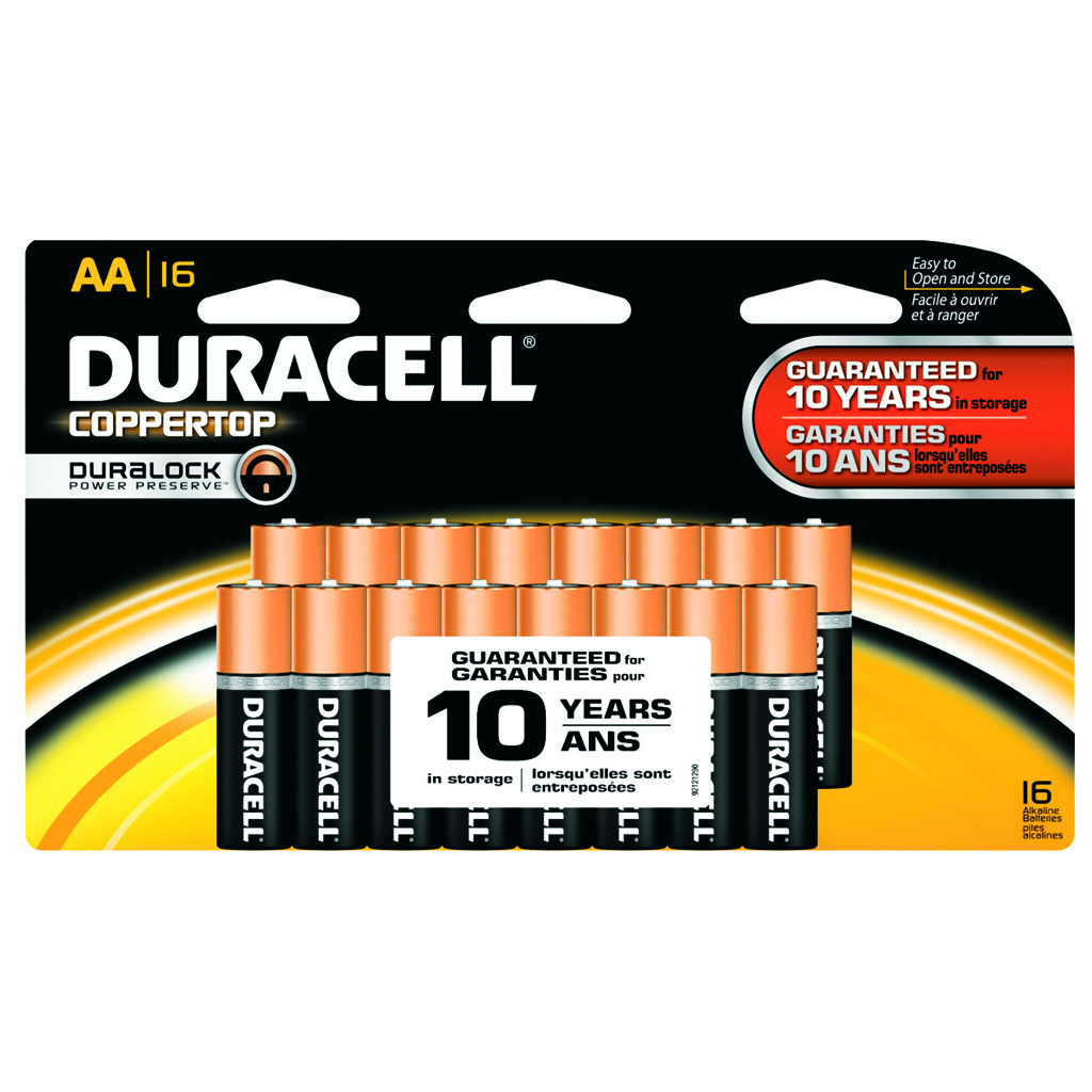 Duracell Coppertop Batteries  <br>  AA 16 pk.