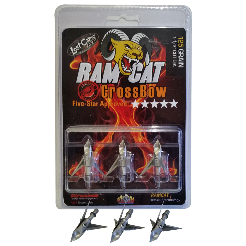 Ramcat Crossbow Broadhead  <br>  125 gr. 3 pk.