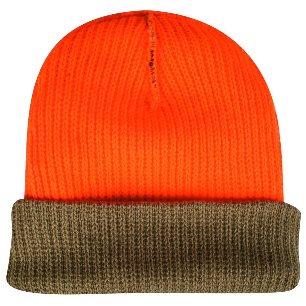 Outdoor Cap Reversible Knit Beanie  <br>  Camouflage/Blaze