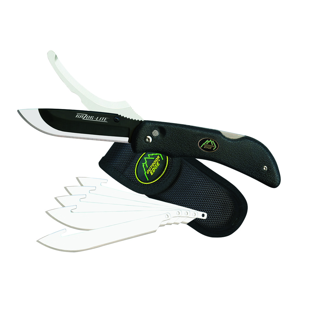 Outdoor Edge Razor-Pro Knife  <br>  Black 6 Blades