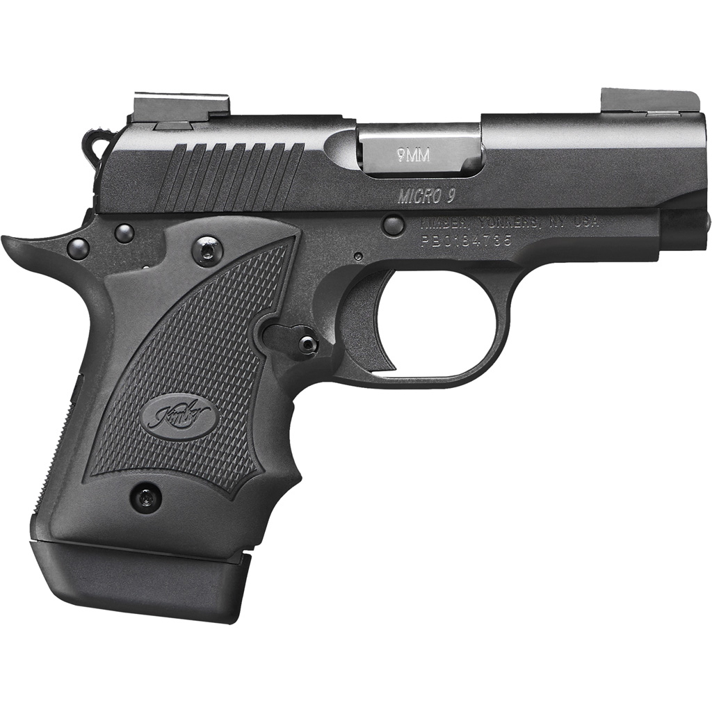 Kimber Micro 9 Pistol  <br>  9 mm 6.1 in. Matte Black 7+1 rd. w/ Hogue Grip