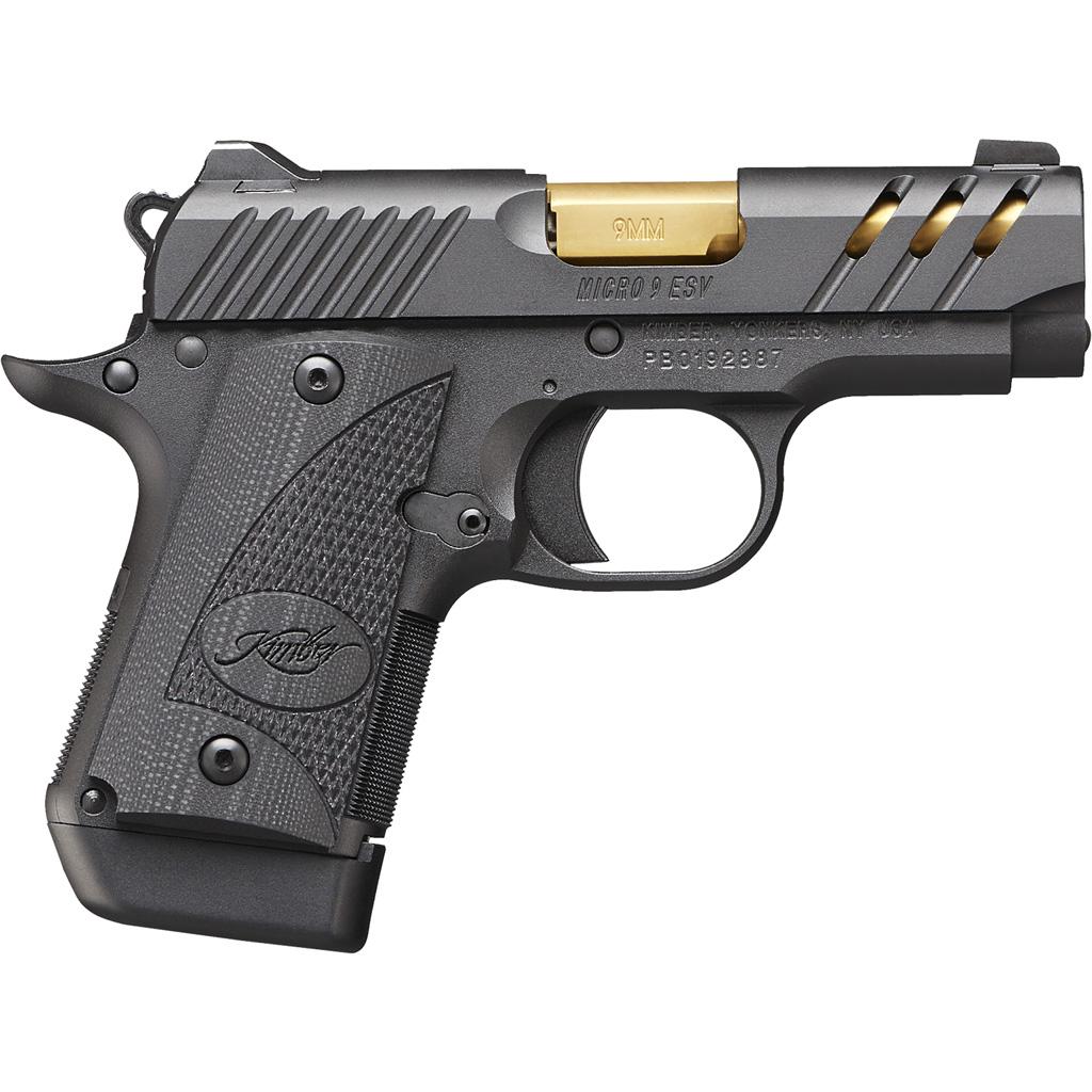 Kimber Micro 9 ESV Pistol  <br>  9 mm 6.1 in. Black 7+1 rd.