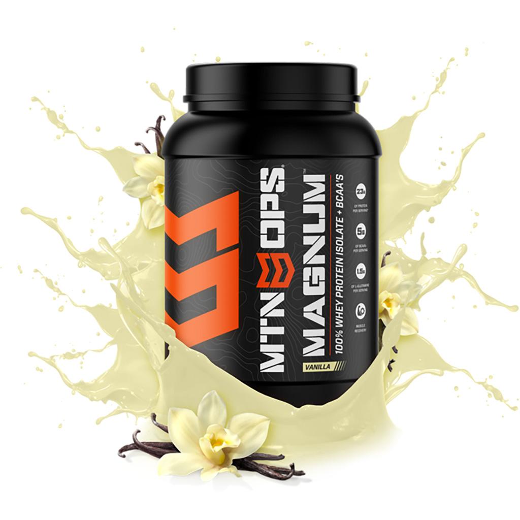 MTN OPS Magnum Protein  <br>  Whey + BCAA Vanilla