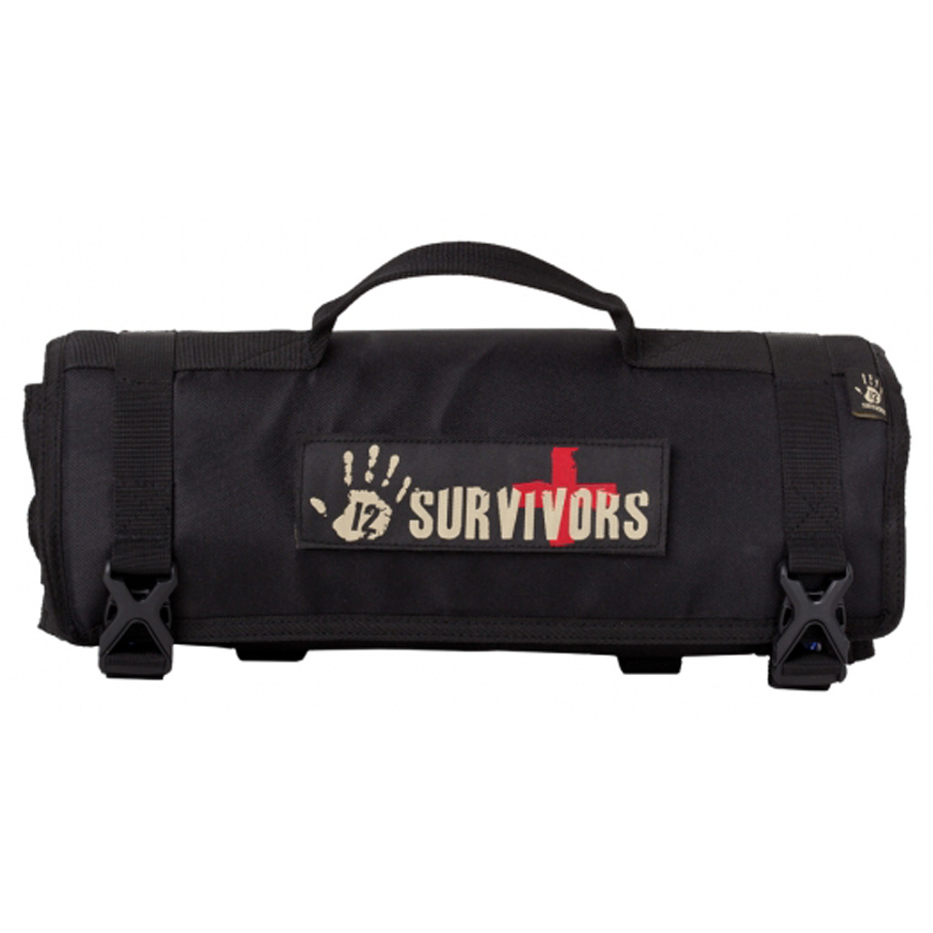 12 Survivors First Aid  <br>  Rollup Kit