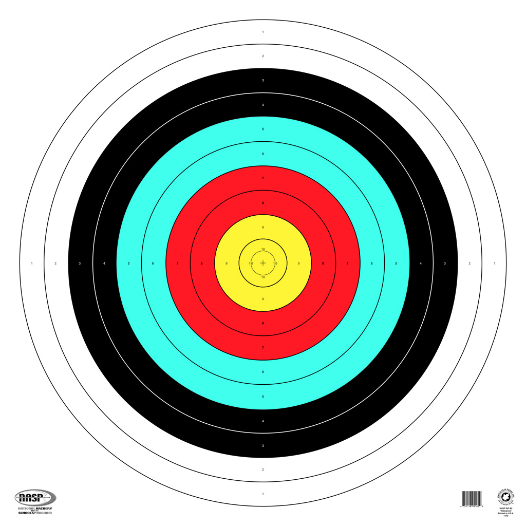 Maple Leaf NASP Target  <br>  80 cm. 25 pk. Waterproof
