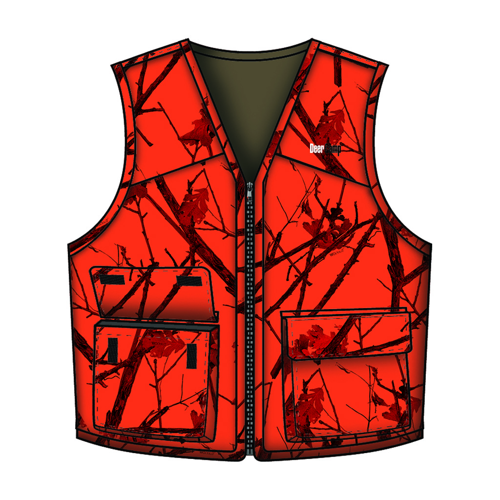 Gamehide Deer Camp Vest  <br>  Woodlot Blaze Large