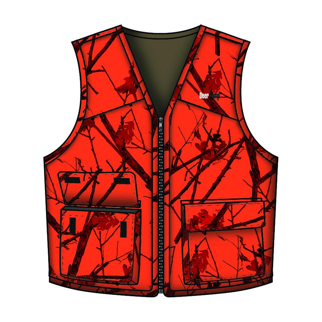 Gamehide Deer Camp Vest  <br>  Woodlot Blaze 4X-Large