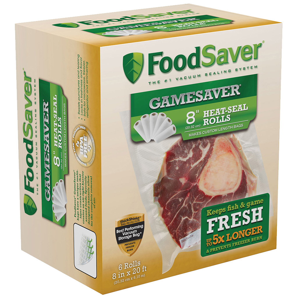 FoodSaver GameSaver Bag Rolls  <br>  8 in. x 20 ft. 6 pk.