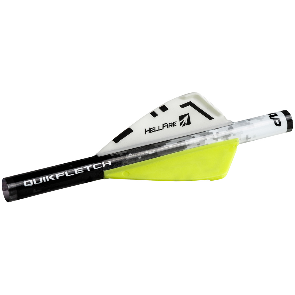 NAP NAP-60-033 Quickfletch Hellfire Fletching White/Yellow/Yellow