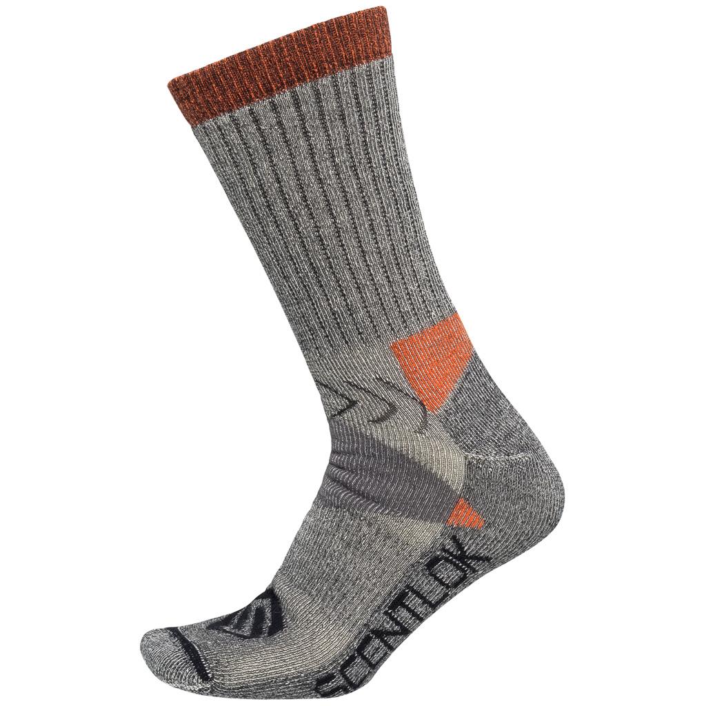 ScentLok Hiker Crew Sock  <br>  Grey Medium