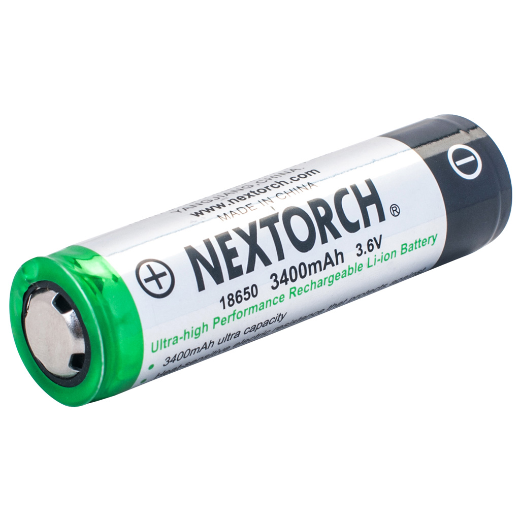Nextorch Rechargeable Battery  <br>  3400 Mah