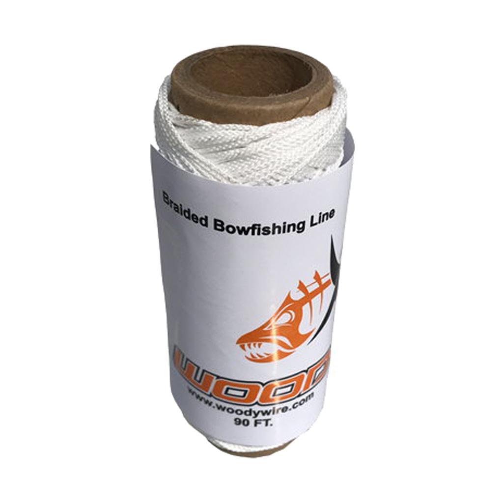 Woody Wire Bowfishing Braided Line  <br>  90 ft.