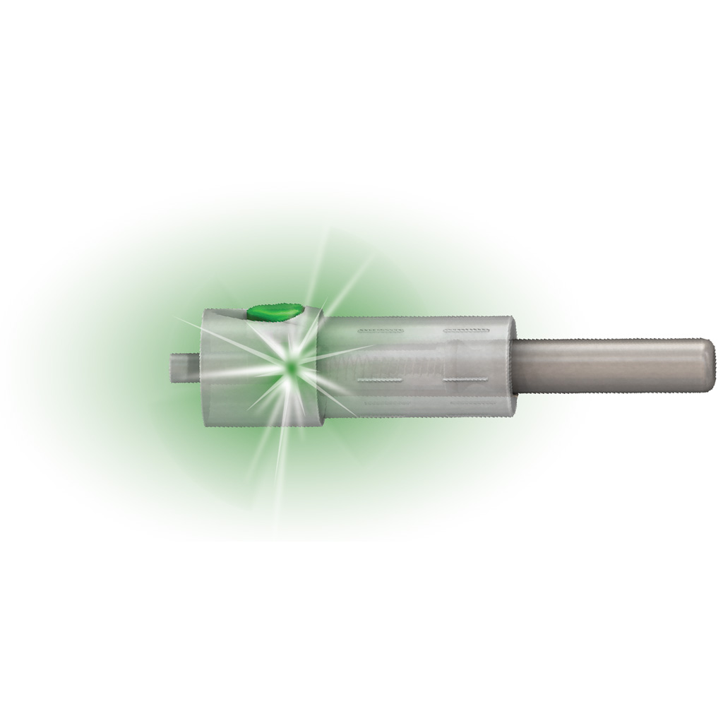 Double Take Glory Nock Lighted Crossbow Nock   <br>  Flat Green .297 3 pk.