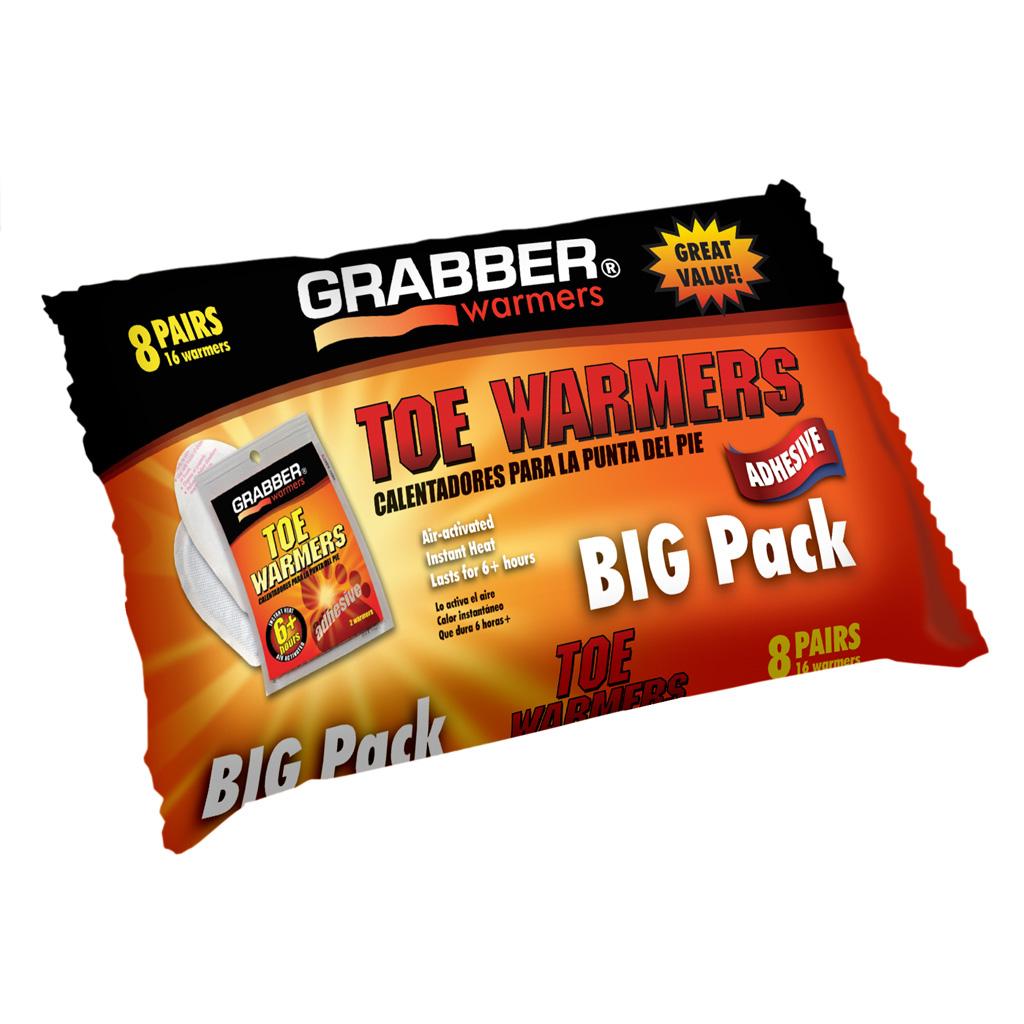 Grabber Toe Warmers   <br>  8 pr. 8 pk.