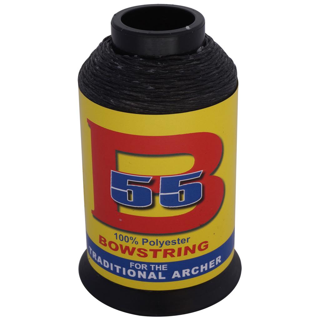BCY B55 String Material  <br>  Black 1/4 lb.