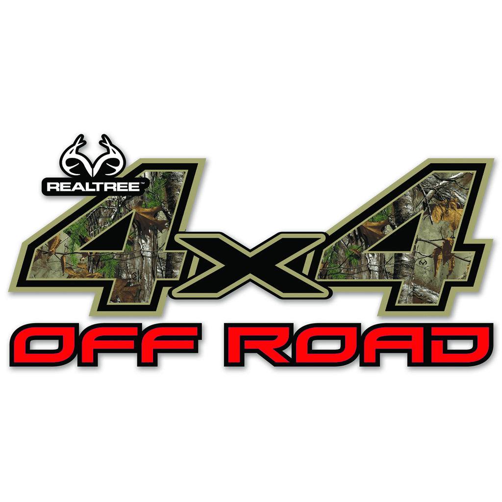 SEI 4x4 Off Road Decal  <br>  Realtree Xtra