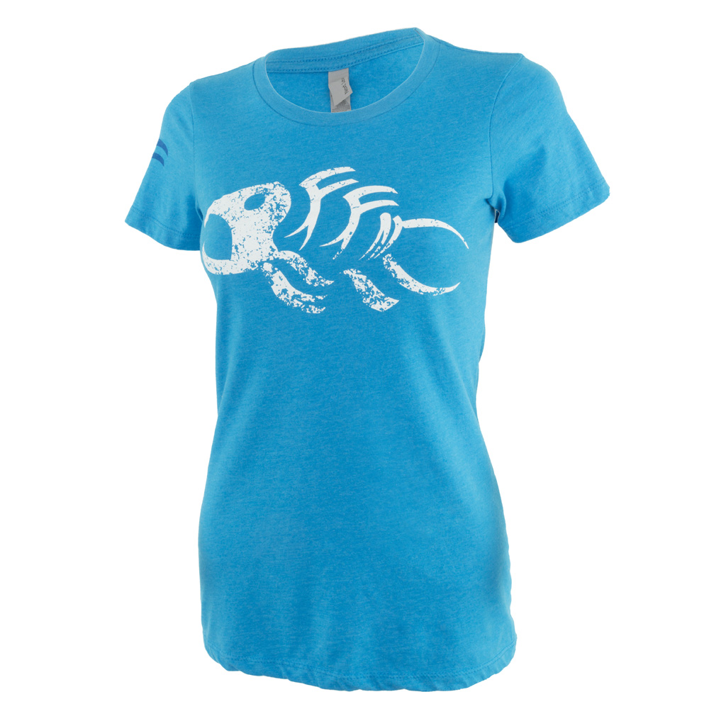 Fin-Finder Women's Gaff Tee  <br>  Blue Large