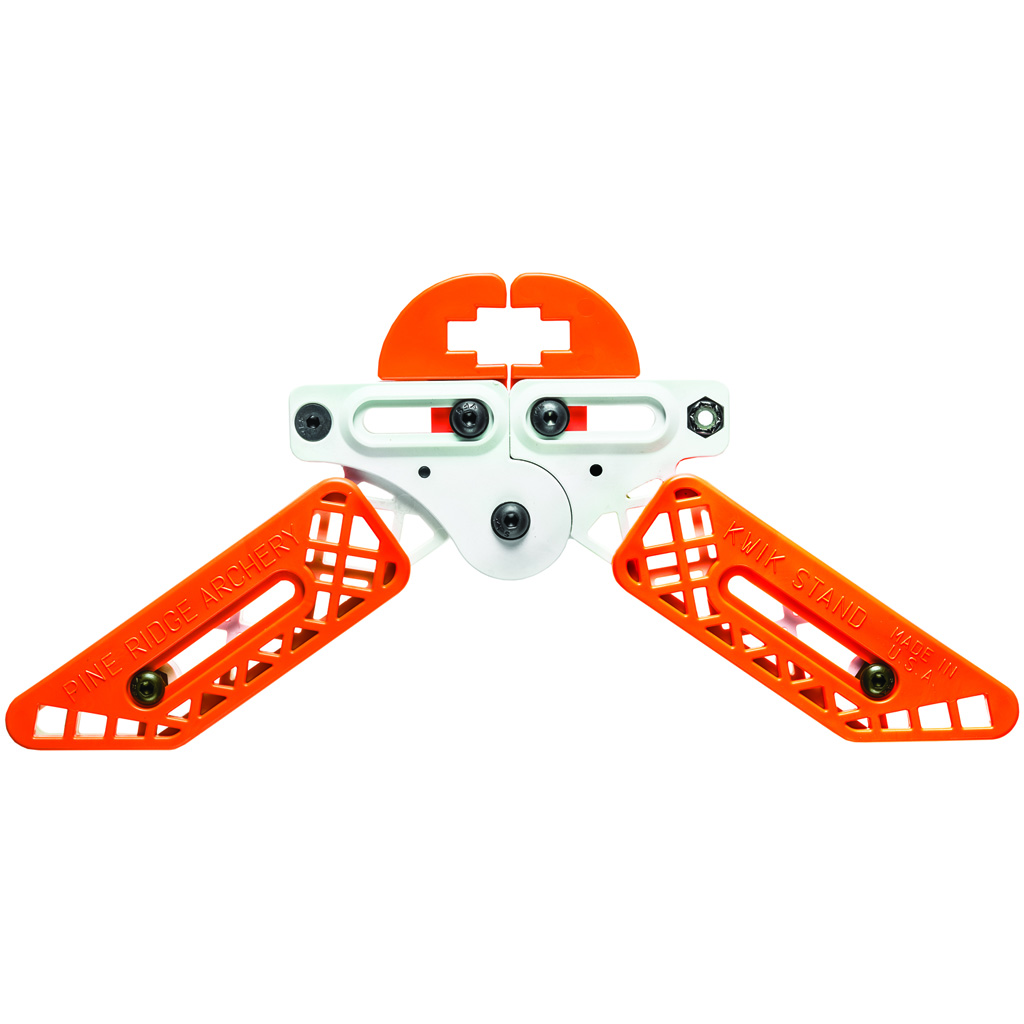 Pine Ridge Kwik Stand Bow Support  <br>  White/Orange