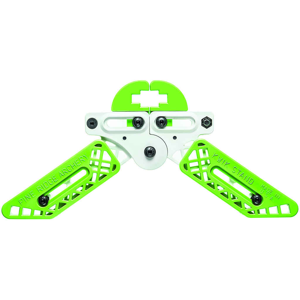 Pine Ridge Kwik Stand Bow Support  <br>  White/Lime Green