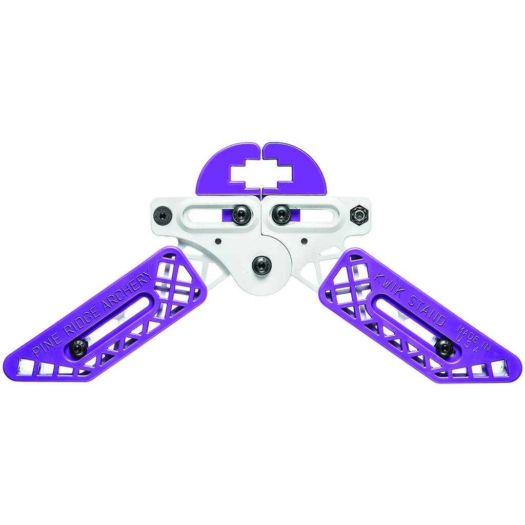 Pine Ridge Kwik Stand Bow Support  <br>  White/Purple