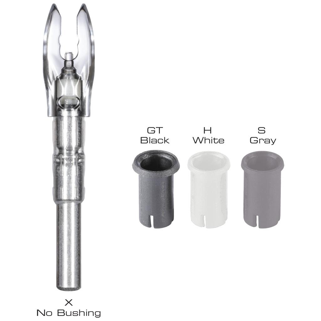 Nockturnal FIT Universal Nock System  <br>  White 3 pk.