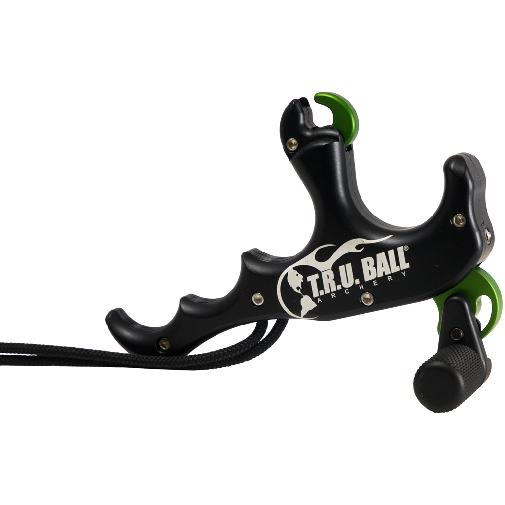 TRU Ball T-Rex Release  <br>  Bone Collector 4 Finger Black
