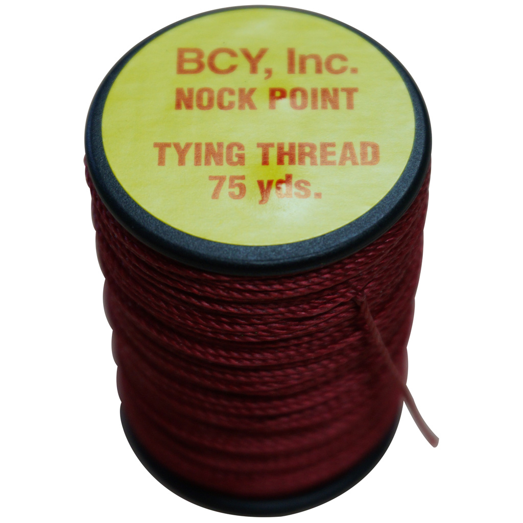 BCY Nock Point Tying Thread  <br>  Red 75 yd.