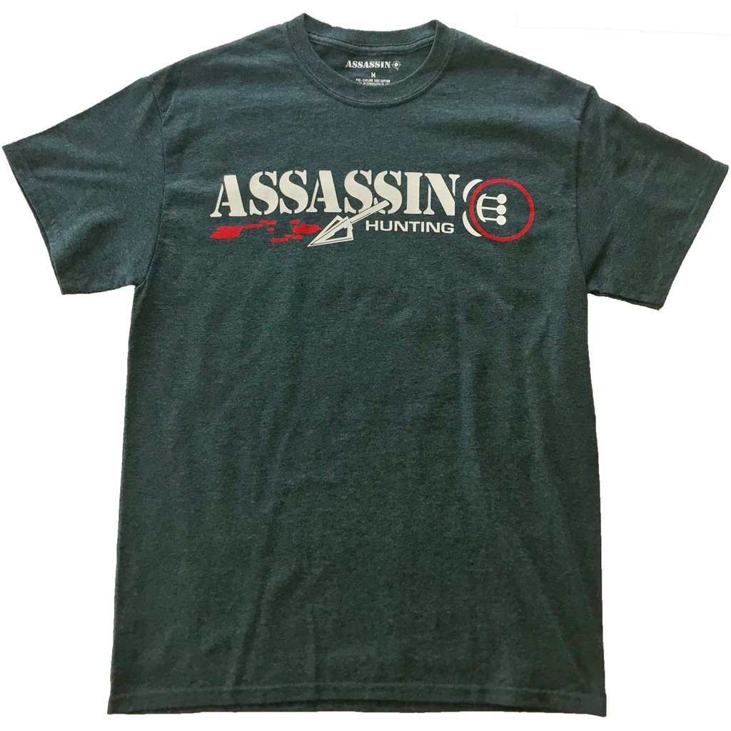 Assassin Bloodtrail T-Shirt  <br>  Charcoal Large