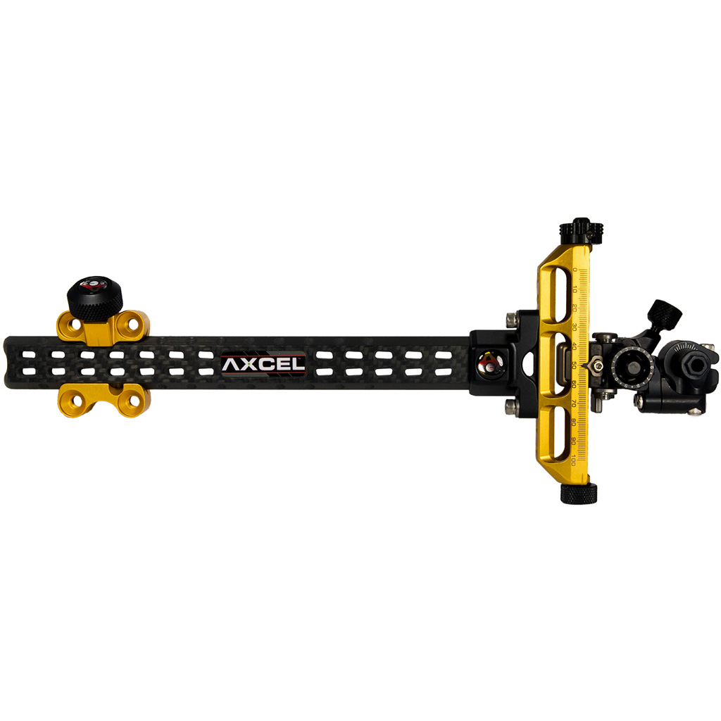 Axcel Achieve Compound XL Sight  <br>  Gold/ Black 9 in. RH