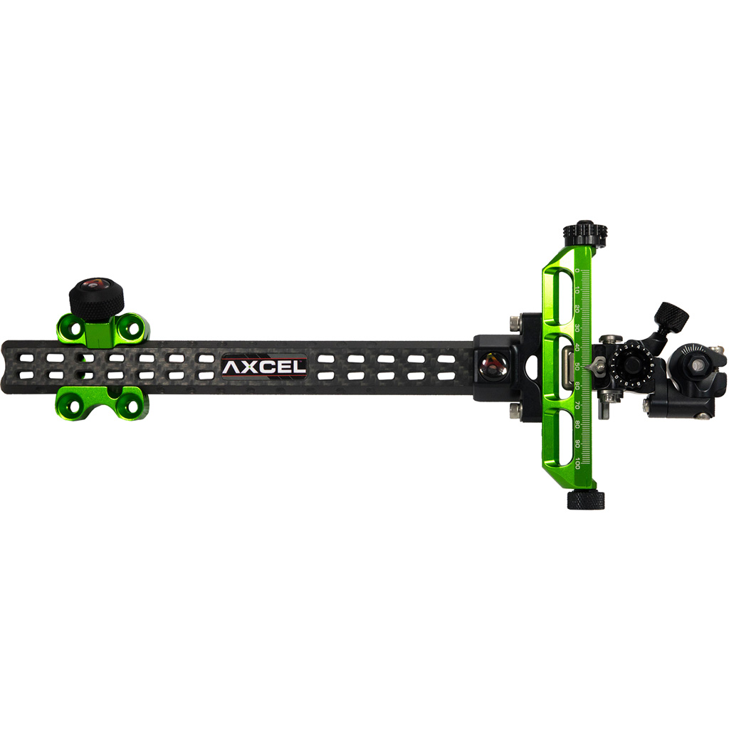 Axcel Achieve Compound XL Sight  <br>  Green/ Black 9 in. RH