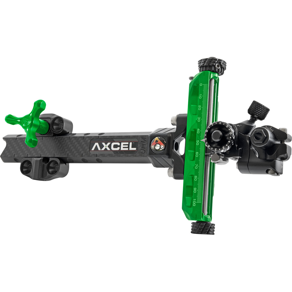 Axcel Achieve XP Compound Sight  <br>  Green/ Black 6 in. RH