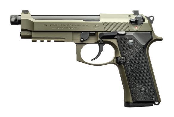 M9A3 9MM BLK/GRN 5 17+1 SFTY - GRN FRAME/GRN SLIDE|1/2X28 TPI