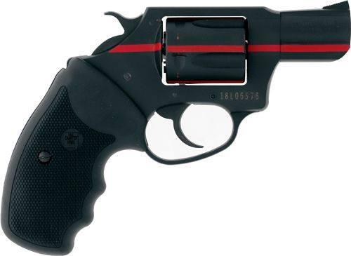 911 RED 38SPC BK/RED STRIPE 2 - RUBBER GRIPS 2 5 SHOT