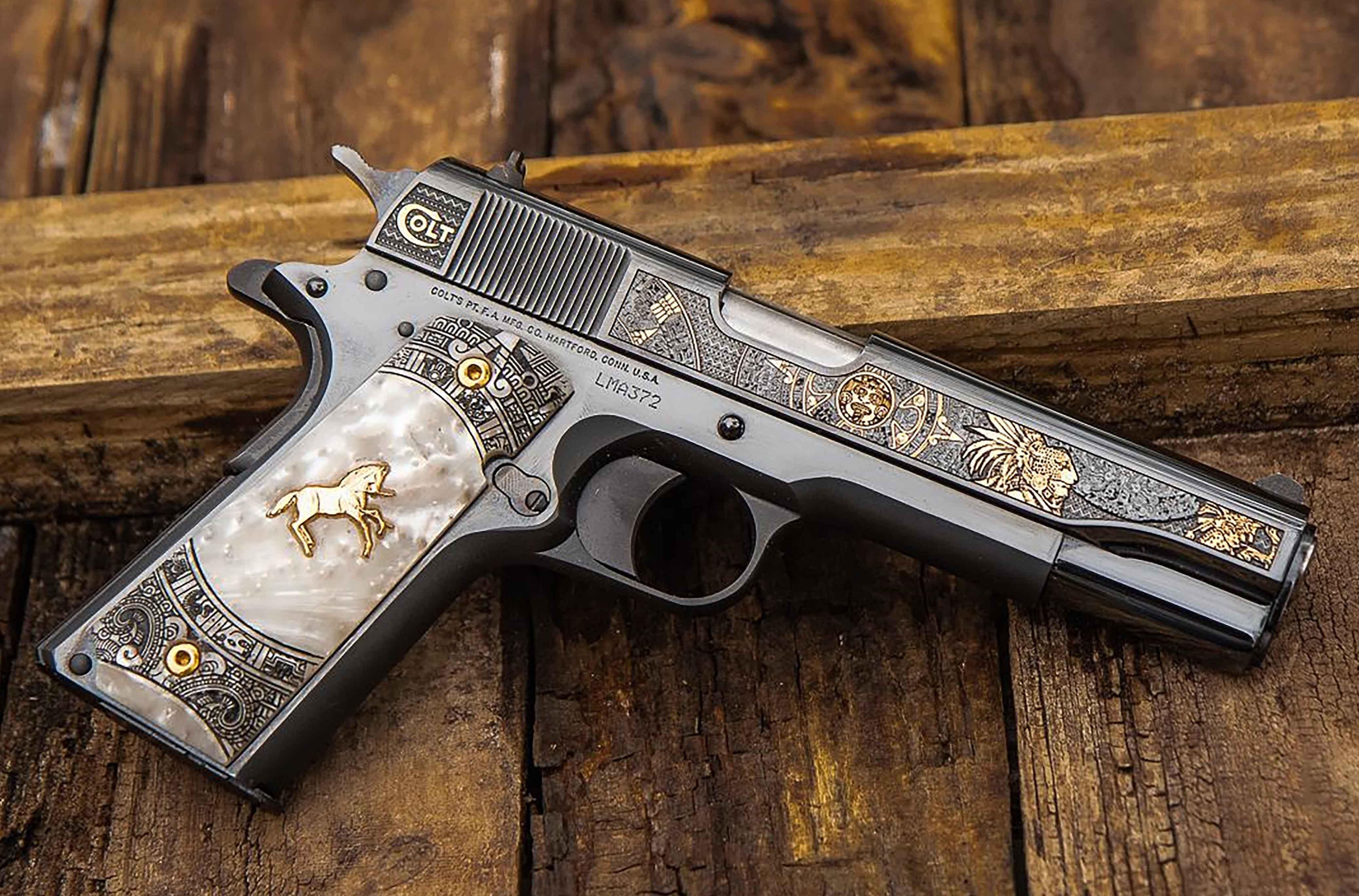 COLT AZTEC JAG KNIGHT 38SUP 5 - 1 OF 400/SPECIAL SER. NUMBERS