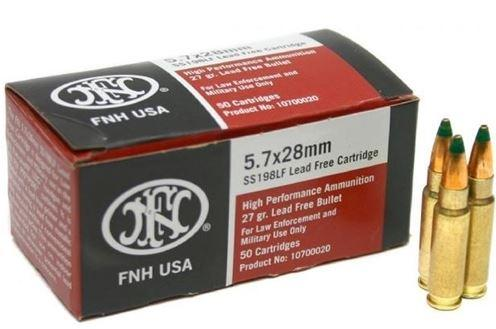 AMMO 27GR HP 5.7 LEAD FREE - SS198LF|HOLLOW PT|2000 RD CASE