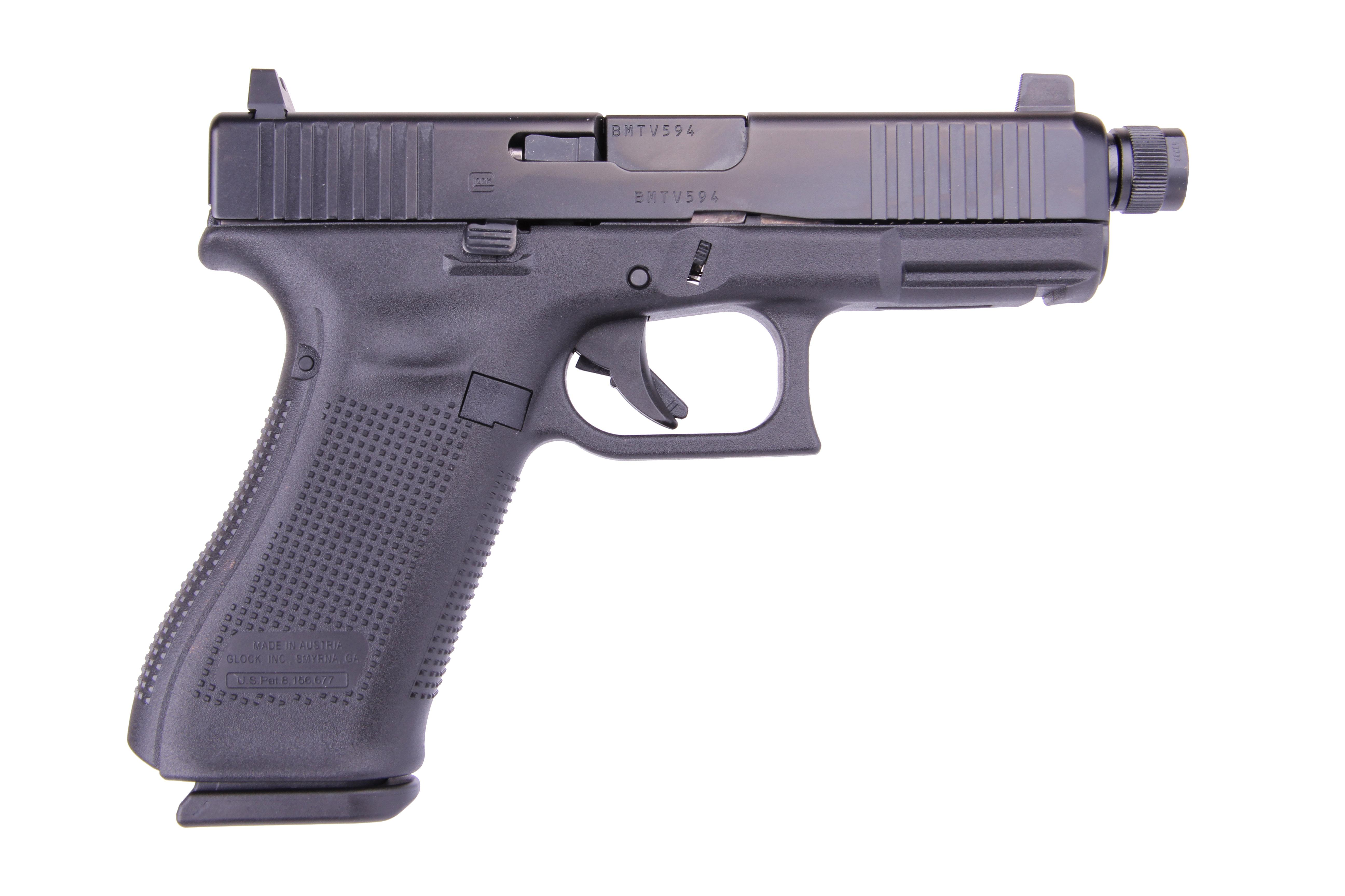 G45 G5 9MM 10+1 4.0 THREAD FS - 3-10RD MAGS | FRONT SERRATIONS