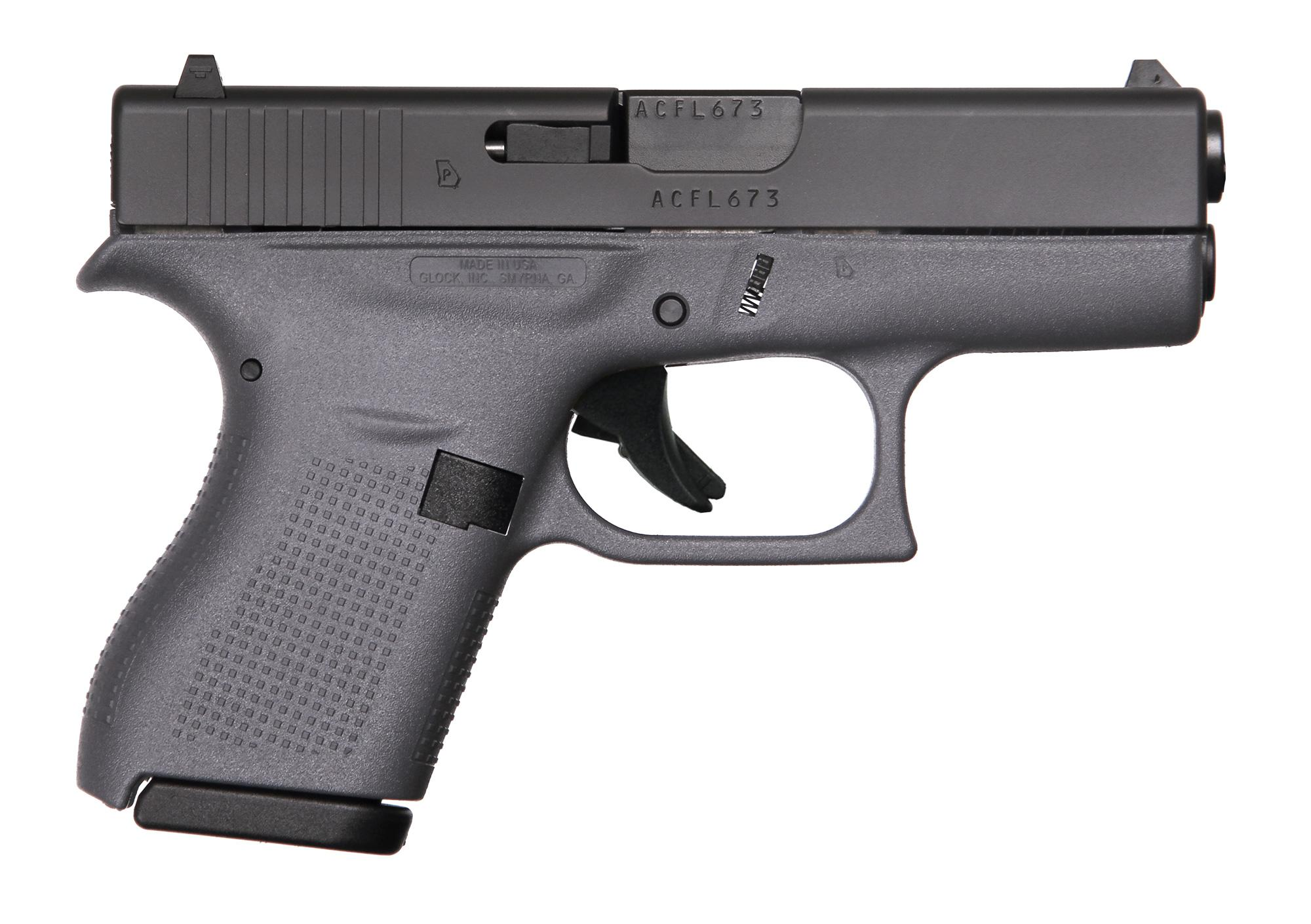 G42 G3 GRAY 380ACP 6+1 3.25 FS - W/TWO 6RD MAGS ACC  CASE