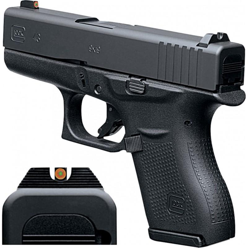 G43 G3 9MM 6+1 3.39 NS - TWO 6RD MAGAZINES
