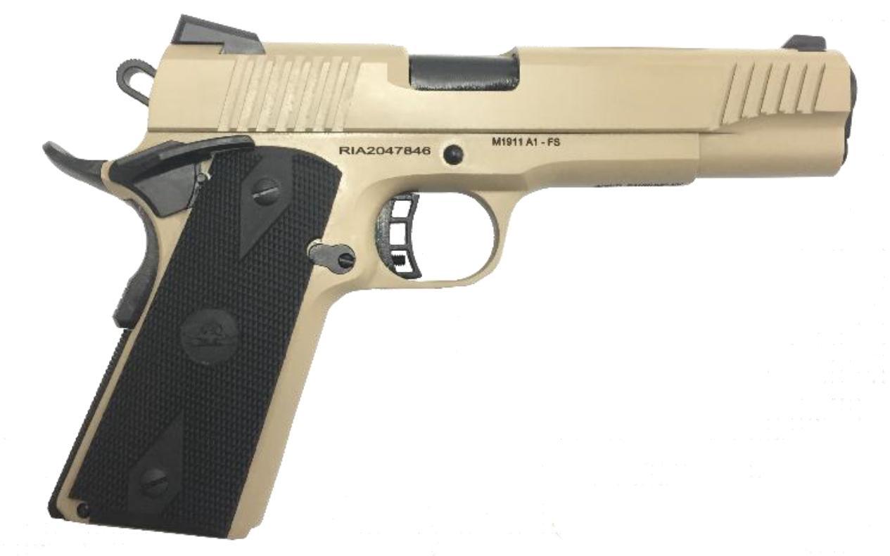 M1911-A1 FS TACT 45ACP FDE - FLAT DARK EARTH CERAKOTE