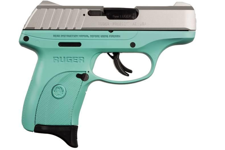 EC9S 9MM SS/TURQUOISE 7+1 FS  - 3286