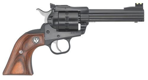 SINGLE TEN 22LR 4-5/8 BL AS - 8102 HARDWOOD GUNFIGHTER GRIPS