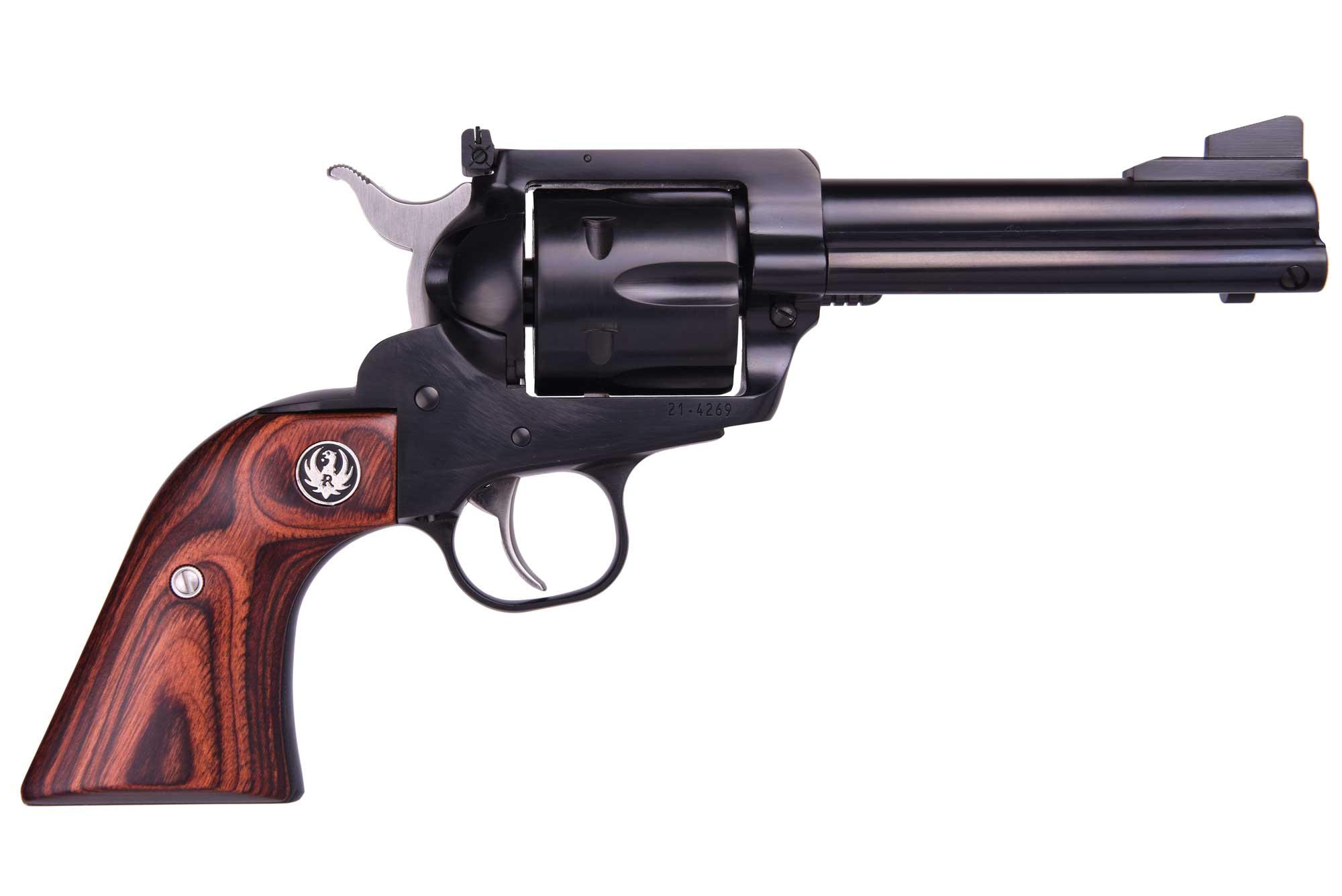 FLATTOP 357/9MM BL/WD 4-5/8AS - 5244 MID-SIZE FRAME/WOOD GRIPS
