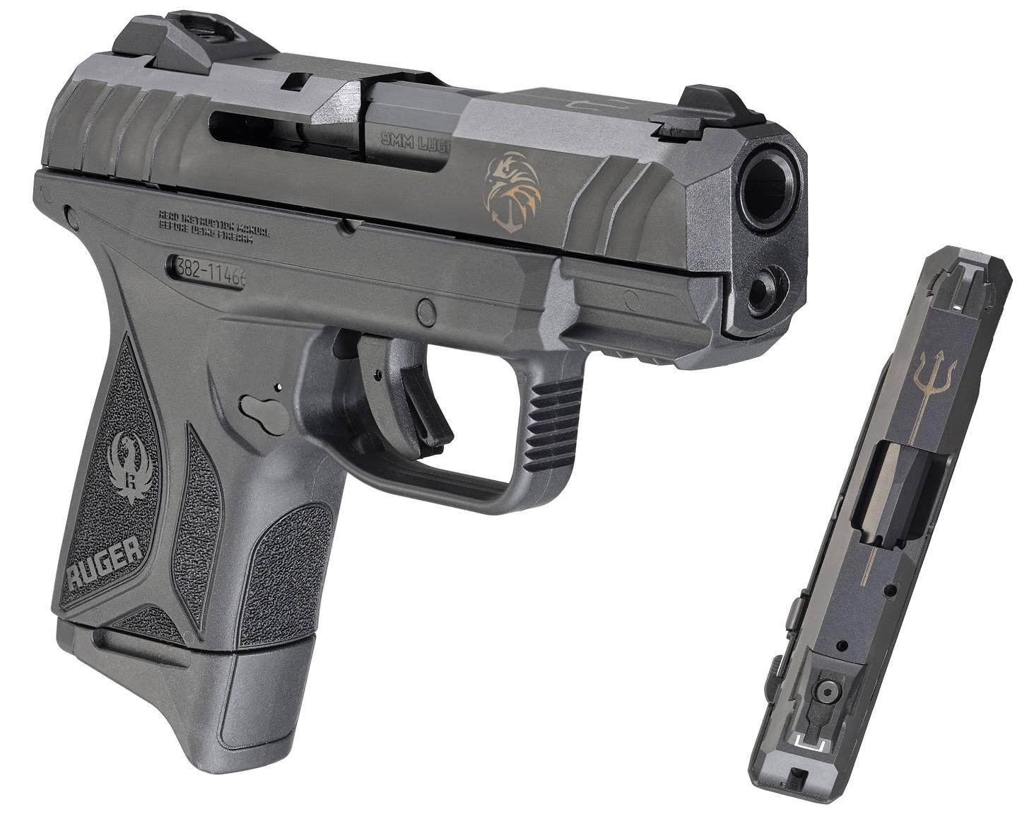 SECURITY-9 CMPCT 9MM NSF BLK - 3828 | NAVY SEAL FOUNDATION