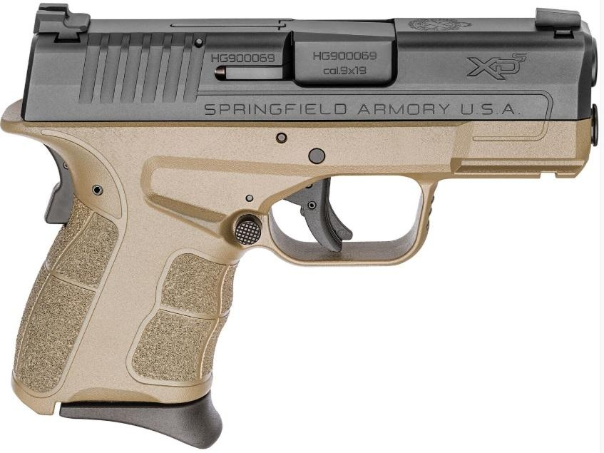 XD-S MOD2 9MM FDE 3.3 8+1 NS - NIGHT SIGHTS   2 MAGS