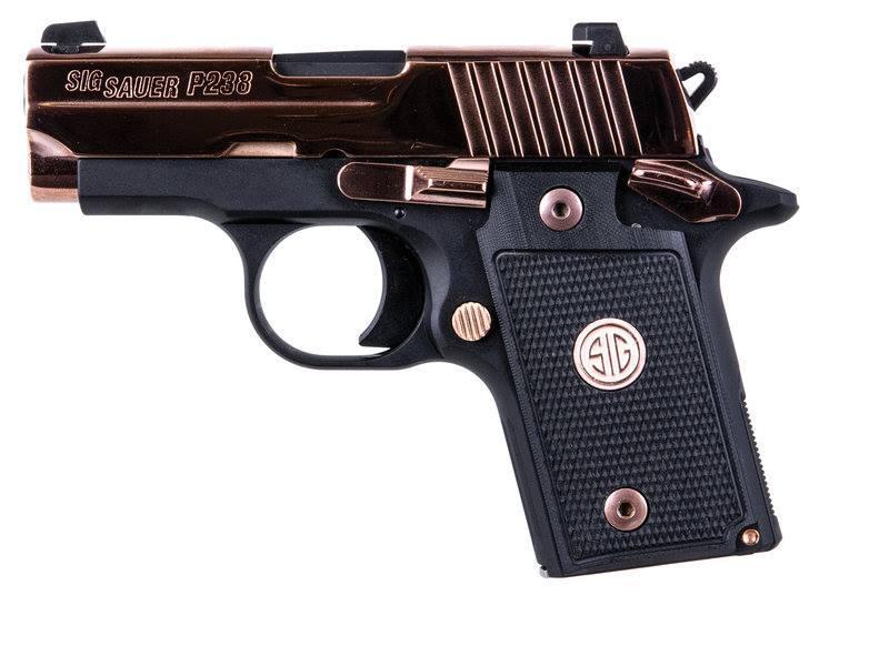 P238 380ACP POL ROSE GOLD 6+1 - 238-380-PRG | POLISHED SLIDE