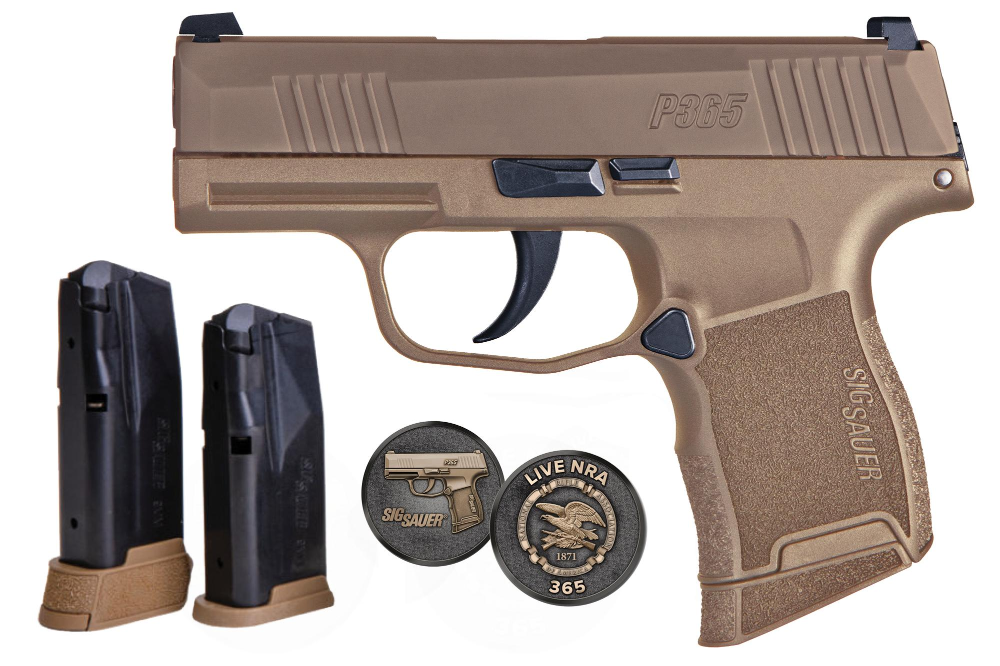 P365 9MM 10+1 COYOTE NRA NS | 365-9-COYXR3-NRA19 / 3 MAGS