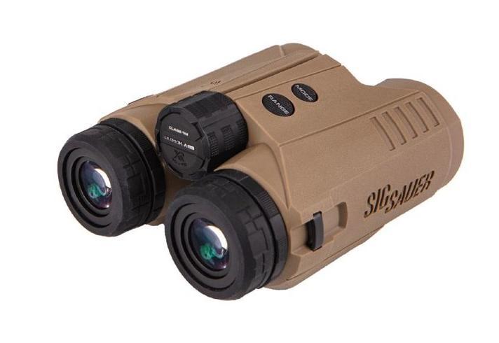 Sig Sauer Electro-Optics SOK10K11 KILO10K-ABS HD Binocular Rangefinder Flat Dark Earth Rubber Armor 10x 42mm 10000 yds Max Distance 304x256 Active Matrix OLED Display